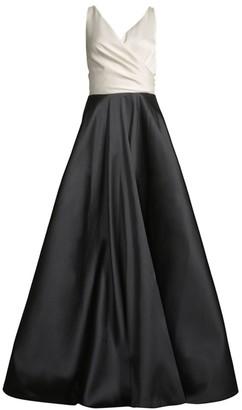 Sachin + Babi Cleo Colorblocked Sleeveless Ball Gown