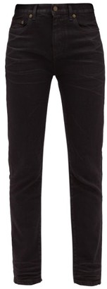 Saint Laurent Distressed Slim-fit Cotton Jeans - Womens - Black