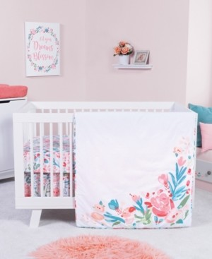 Trend Lab Painterly Floral 3-Piece Crib Bedding Set Bedding