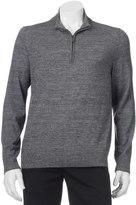 Apt. 9 Big & Tall Modern-Fit Merino Wool-Blend Quarter-Zip Sweater