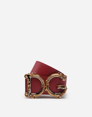 Dolce & Gabbana Calfskin Belt With Logo