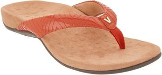 Vionic Patent Thong Sandals w/ 'V' Detail - Jen