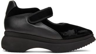Paula Canovas Del Vas Black Velvet Diablo Sneakers