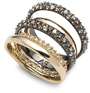 Alexis Bittar Pave Orbit Crystal-Encrusted Layered Ring