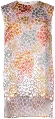 Adam Lippes Painted Asymmetric Tunic Top