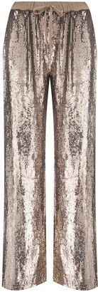 P.A.R.O.S.H. Sequined Wide-Leg Trousers