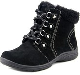 Earth Origins Crowley Women W Round Toe Suede Black Ankle Boot.