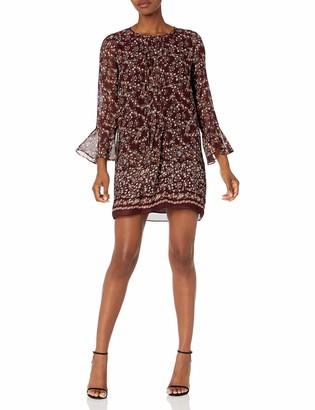 Max Studio Women's Long Bell Sleeve Woven Dress