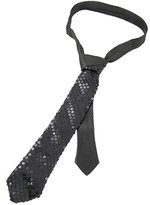 uxcell Men Black Sequin Decor Self Tie Adjustable Skinny Necktie