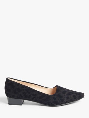 Peter Kaiser Lisana Closed Block Heel Court Shoes, Black