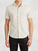 John Varvatos Abstract Polka Dot Short Sleeve Shirt