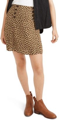 Madewell Woodcut Flowers Piped Miniskirt