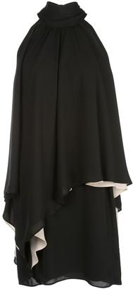Halston asymmetric halterneck mini dress