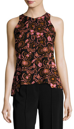 A.L.C. Stuart Silk Printed Top