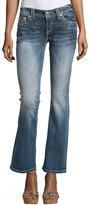 Miss Me Boot-Cut Embellished-Pocket Jeans, Dark Wash 367