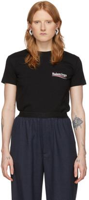 Balenciaga Black Logo Print T-Shirt
