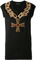 Dolce & Gabbana embroidered chain top