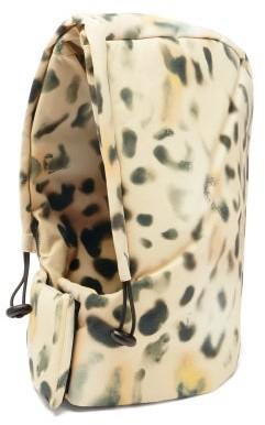 Kassl Editions Tec Leopard-print Drawstring Hood - Leopard