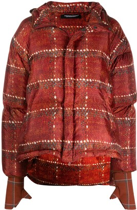 Undercover Printed Asymmetric Puffer Jacket