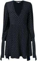Stella McCartney logo-printed cape dress
