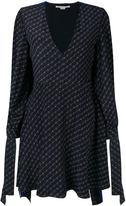 Stella McCartney Logo-Printed Cape Dress