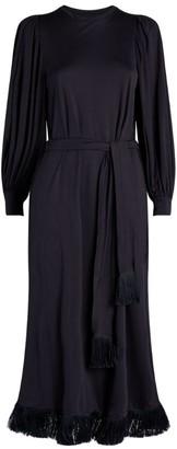 Mother of Pearl Fringe-Trim Colette Dress
