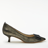 Boden Adelaide Kitten Heeled Court Shoes, Gold
