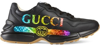 Gucci Rhyton leather sneaker with logo