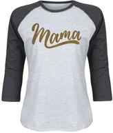 Athletic Heather & Black Glitter Script 'Mama' Raglan Tee - Women