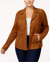 Style&Co. Style & Co Plus Size Faux-Suede Jacket, Created for Macy's