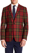 Brooks Brothers Notch Lapel Front Three Button Plaid Wool Jacket