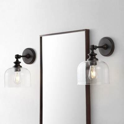 Longshore Tides Gober 1 Light Led Armed Sconce Finish Oil Rubbed Bronze Shopstyle