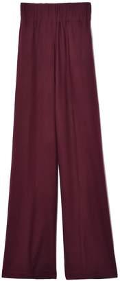 Aspesi Elastic Waist Wide Leg Pant in Bordeaux