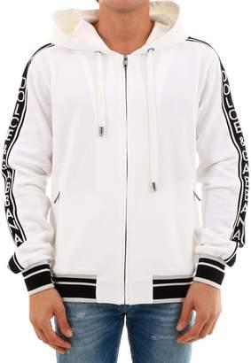 Dolce & Gabbana White Cotton Sweatshirt