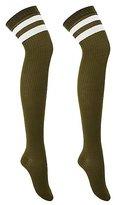 Charlotte Russe Varsity Stripe Thigh-High Socks
