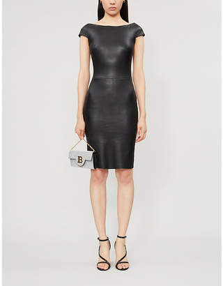 Jitrois Atlantic boat-neck leather dress
