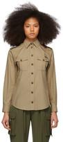 Dolce & Gabbana Tan Poplin Oversized Safari Shirt