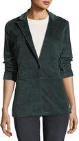 J Brand Denise One-Button Velvet Blazer