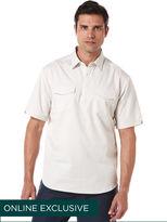 Cubavera Short Sleeve 100% Cotton 2 Pocket Popover