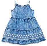 Design History Girls' Chambray Embroidered Dress - Sizes 2-6X