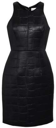 Milly Embossed Coated Scuba Mini Dress