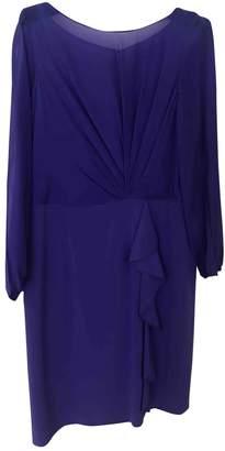Kay Unger Blue Silk Dress for Women