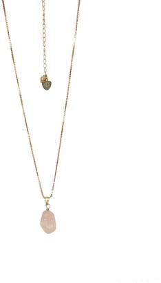 Cvlcha Raw Rose Quartz Amara Necklace - Gold