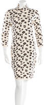Blumarine Wool Printed Dress