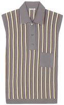 Miu Miu Striped Sleeveless Polo Shirt
