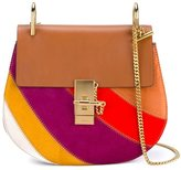 Chloé Multi Colour Patchwork Drew Shoulder Bag