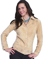 Scully Women's Studded Boar Suede Western Shirt L233