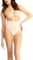 Me Moi SlimMe by MeMoi Women's High Waisted Thong (S) (Nude)