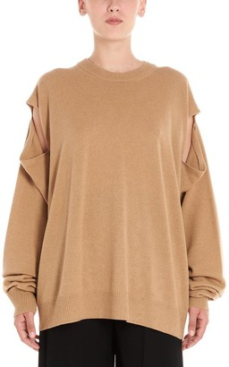 Maison Margiela Cut Out Sleeve Crewneck Sweatshirt
