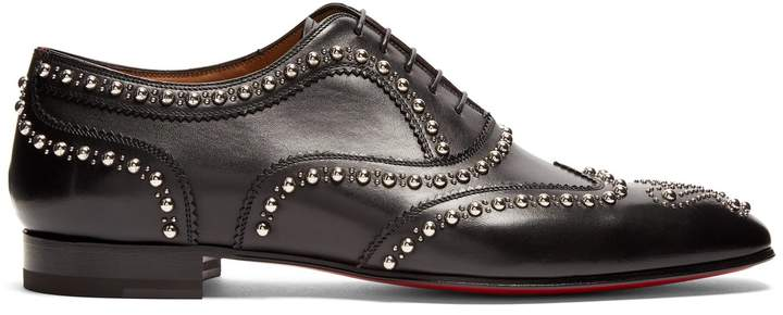 Christian Louboutin Charlie Clou studded leather oxford shoes